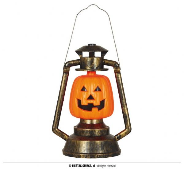 PUMPKIN LANTERN WITH LIGHT